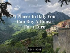 Buy a house for 1 Euro in places in Italy where you can buy a house for 1 euro and renovate it. Italy House, Residency Programs, Living In Italy, Cheap Houses, Places In Italy, Sicily Italy, Rss Feed, Travel Abroad, Sardinia