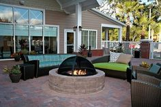 Love this bonfire idea!
