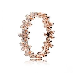 Dazzling Daisy Band Ring - PANDORA Rose  THIS RING IS SOO SO PRETTY!! ❤️❤️
