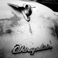 Classic Car Photography  Vintage Chrysler Hood Ornament by AsqewCreative