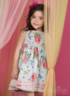 Room Seven DIXIE Sunny Blue Smock Dress @ My Little Darlings