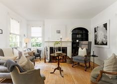 When Bill Cummings and Bernt Heiberg, of Heiberg Cummings Design, restored their 183-year-old cottage in Sag Harbor, New York, they took every possible opportunity to preserve—and highlight—its original architecture. The main living room is painted in a matte white paint from Farrow & Ball, offset by a more traditional high-gloss paint from Fine Paints Of Europe that draws attention to the trim and millwork. Furnished in the 19th-century style to complement its original construction date…