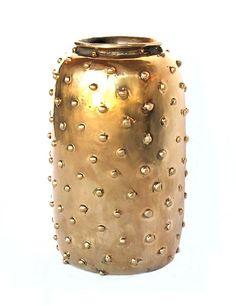 Studded vase by Kelly Wearstler; $895. kellywearstler.com