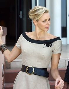 Former South African Olympic swimmer and future Princess of Monaco Charlene Wittstock at the Beverly Hills Hotel in Umhlanga, South Africa on 10 February Kelly Monaco, Monaco Charlene, Princesa Charlene, Grace Kelly, Princess Stephanie, Princess Caroline, Elsa Peretti, Carolina Herrera, Charlize Theron Style