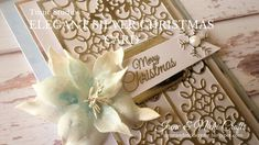 Tonic Craft Kit| Elegant Silver Christmas Card Silver Christmas, Christmas Cards, Studios, Do It Yourself Crafts, Craft Work, Craft Kits, Crafts To Sell, Place Card Holders, Elegant