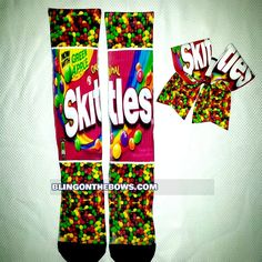 35.00$  Buy here - http://viyjf.justgood.pw/vig/item.php?t=gb9zpzv16192 - SKITTLES socks and bow set