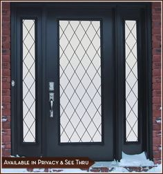 Featuring a timeless architectural style, the Orleans Leaded Glass Privacy design adds privacy while complimenting the decor.