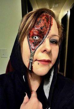 Halloween Zipper Face Costume