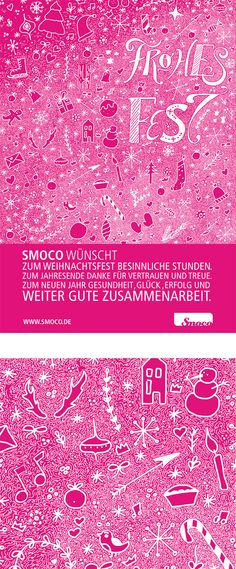 Frohes Fest wünscht Smoco / Smoco wishes Merry Christmas  Our Christmas poster for this year instead of  a Christmas card