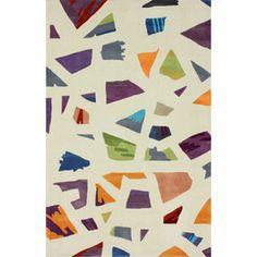 Handmade Kid's Modern Abstract Multi Rug | Overstock.com