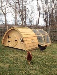Are you a Lord of the Rings fan? Get your chickens their very own Shire-style residence, available for $1,595 from Etsy seller Hobbit Holes.