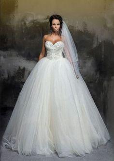"Princess wedding dress ""Cinderella"" with scoop neckline/"