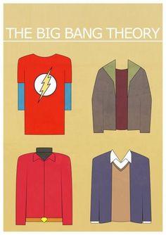 Sheldon, Leonard, Howard, Raj - The Big Bang Theory Minimalist Poster Big Bang Theory, The Big Theory, The Big Bang Therory, Minimal Poster, Film Serie, Cultura Pop, Best Tv, Bigbang, Favorite Tv Shows