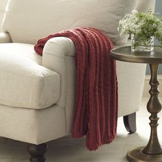 Soft blankets and throws keep us warm and cozy when it's chilly, but use soft blankets and throws to cozy up your home and add a pretty & practical touch to your home.