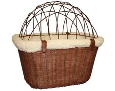 Wire Safety Cage for Solvit Wicker Bike Basket from Pet Travel Center