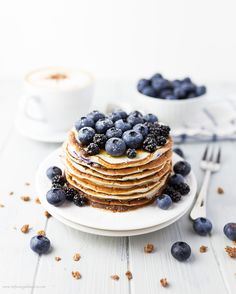 The+Best+Blueberry+Buttermilk+Protein+Pancakes