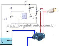 Controle automatico de bomba d'àgua. http://blog.novaeletronica.com.br/controle-automatico-de-bomba-dagua-pelo-nivel-da-caixa-dagua/
