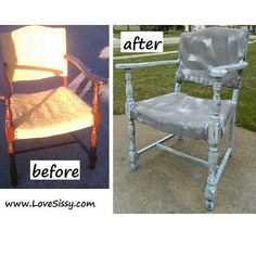 Antique chair makeover, whitewashed & painted upholstery