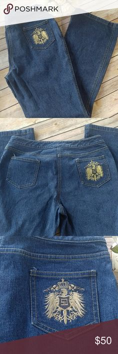 """St John Collection jeans St. John Collection jeans with crest on back pocket. 28"""" inseam. St. John Collection Jeans"""