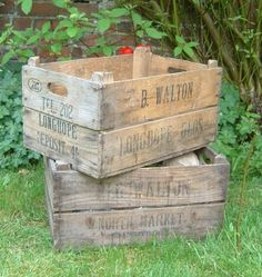 DIY Antiqued Crates... My new love. And a tutorial. (from Michaels or JoAnns)