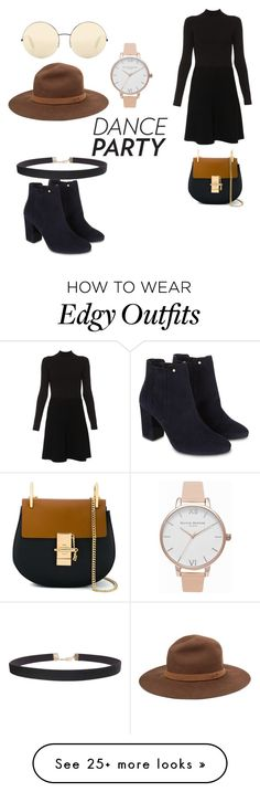 """""""edgy to the edge"""" by nutella22-1 on Polyvore featuring Paule Ka, Monsoon, Victoria Beckham, rag & bone, Humble Chic, Olivia Burton and Chloé"""
