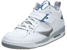 Nike Jordan Flight 45 Mens 644846-107 White Sport Blue Grey Shoes Sneakers  Sz 9 428c697e0