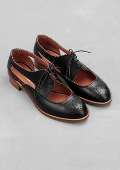 & Other Stories | Leather cut-out brogues