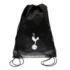 TOTTENHAM HOTSPUR Drawstring gym bag with metal eyelets and featuring the club crest. Approx 45 cm x 34 cm flat. 2 mesh pockets. Official Licensed Tottenham Hotspur gift.