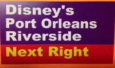 Walt Disney World Road Sign Inspired Magnet 2  X 3.5  Port Orleans Riverside