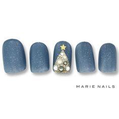 いいね!294件、コメント1件 ― @marienails_jpnのInstagramアカウント: 「#マリーネイルズ #ネイル #blue #ジェルネイル #ネイルアート #gelnails #クリスマス #marienails #ネイルサロン #nailpolish #nail…」
