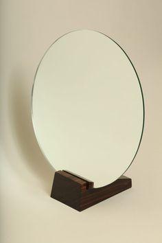 Art Deco Macassar Ebony Table Mirror by Emile Jacques Ruhlmann