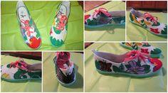 Zapatillas Selva, en pintura de tela