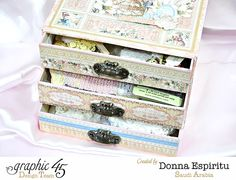 Gilded Lily matchbook box drawers by Donna with a tutorial #graphic45