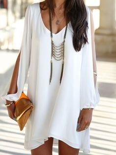 Designed Casual Round Neck Sleeveless Chiffon  Casual-dress Casual Dresses from fashionmia.com