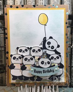 It's Pandamonium Around Here Written by inkspira on January 2018 · Leave a Comment Kids Birthday Cards, Handmade Birthday Cards, Baby Cards, Kids Cards, Panda Party, Stamping Up Cards, Animal Cards, Cool Cards, Anniversary Cards