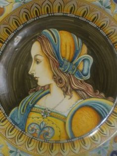 unique hand painted wall plate. diameter 20 inches. available for order.
