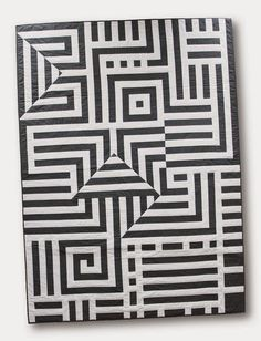 Homage to Vasarely, OpArt quilt by Grapes and Hearts (Germany). Bloggers Quilt Festival - Spring 2015.