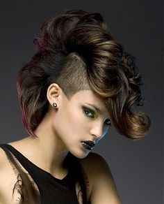 Shaved Hair Designs For Girls | Be a Mohawk know-it-all ~ Sincerely, Boots.