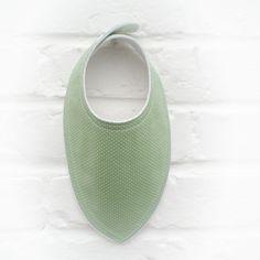 Bavoir bandana bébé tissu vert à pois_ fait main par Decofil : Mode Bébé par decofil