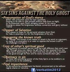 Six Sins Against the Holy Spirit