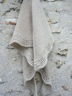 tuto du shawl en mousse et vagues...