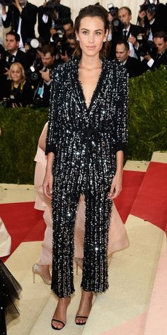 Who can forget Alexa Chung's extravagantly breathtaking jumpsuit. The perfect ensemble for a celebration.