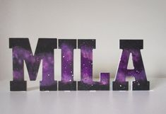 Galaxy wooden name letters, galaxy art, boys room decorations, custom kids room letters for boys and girls, unisex name letters - Galaxis Wooden Name Letters, Wooden Names, Diy Letters, Painted Letters, Galaxy Painting, Galaxy Art, Boys Room Decor, Kids Room, Galaxy Names