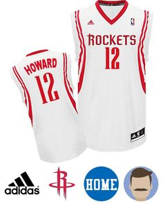 Wear this stylish Men s Adidas Houston Rockets  12 Dwight Howard White Revolution  30 Swingman Home 5e6345387