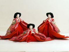 七寸官女の激安特価雛人形在庫処分全体3人