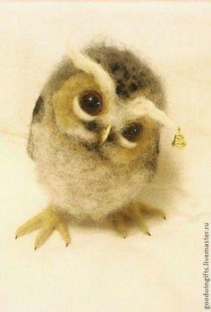Bilderesultat for needle felted squirrel tutorial Felt Owls, Felt Birds, Felt Animals, Cute Animals, Art Magique, Needle Felted Owl, Wooly Bully, 3d Figures, Needle Felting Tutorials