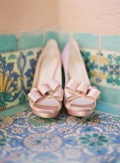 #Wedding #shoes. Here's another option... bow toe heel peeps in pale pink perfection. Oh L'amour!