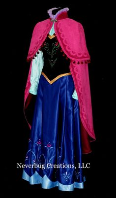 Snow Princess Anna Costume With or Without by NeverbugCreations