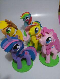 Recuerdos My Litter Pony, Fiestas Infantiles,colitas De Pony - $ 30.00 en Mercado Libre