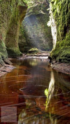 Finnich Glen - The Devils Pulpit, Near to Craighat, Stirling, Scotland.
